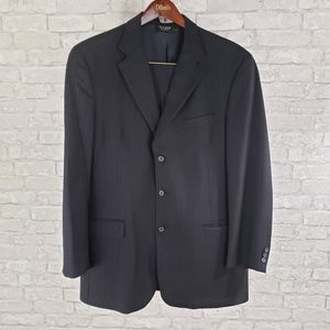 Jos A. Bank 2 Piece Suit Navy With Pinstripes